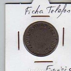 Material numismático: FICHA TELEFONICA TOKEN JETON DE FRANCIA. Lote 152824914