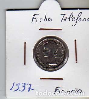 FICHA TELEFONICA TOKEN JETON DE FRANCIA (Numismática - Material Numismático)