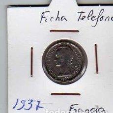 Material numismático: FICHA TELEFONICA TOKEN JETON DE FRANCIA. Lote 152824950