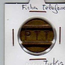 Material numismático: FICHA TELEFONICA TOKEN JETON DE TURQUIA. Lote 152825022