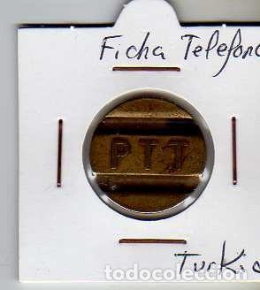 FICHA TELEFONICA TOKEN JETON DE TURQUIA (Numismática - Material Numismático)