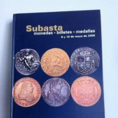 Material numismático: SUBASTA NUMISMATICA. CAYON 2005. TAPA DURA LUJO. Lote 152911313