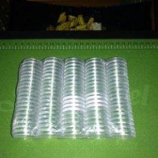 Matériel numismatique: 100 CAPSULAS PARA MONEDAS DE 30 MM. Lote 153185450