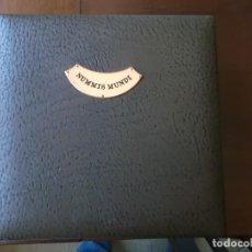 Material numismático: ALBUM DE MONEDAS CASI SIN USO CON 3 HOJAS DIFERENTES MEDIDAS MARCA AULFES ALEMANIA . Lote 155068774