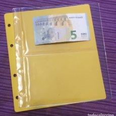 Material numismático: HOJA TIPO NUMIS PARA BILLETES CON DOS DIVISIONES (10 DISPONIBLES). Lote 155095406