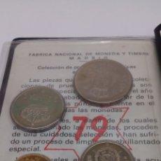 Numismatisches Material - 4 monedas de 50 25 5 y 1 Pesetas en su estuchecon estuche de Caracteristicas en su Blindé año 1975 - 162669161
