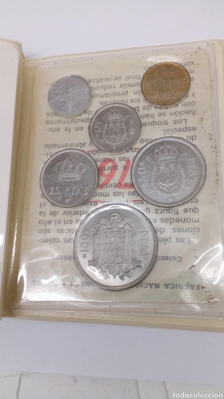 Material numismático: 6 monedas 100 50 25 5 1 0,50 pesetas y centimos con estuche y características - Foto 2 - 160621124