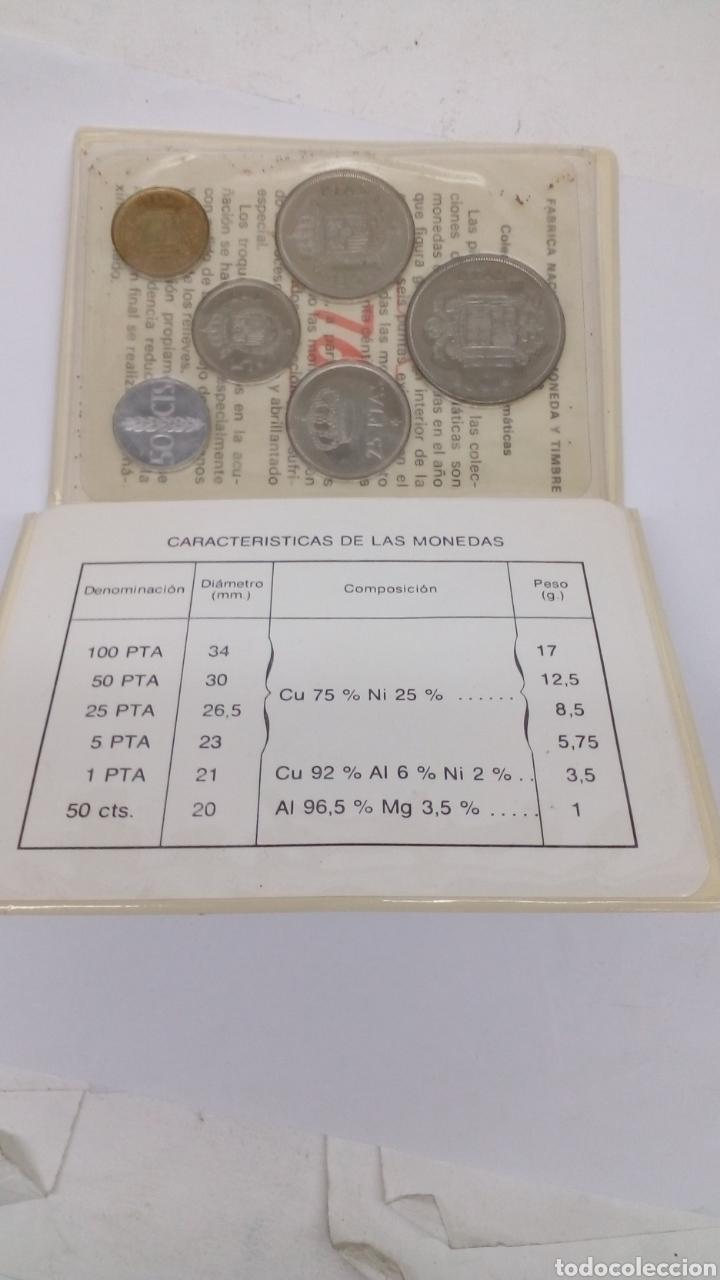 6 MONEDAS 100 50 25 5 1 0,50 PESETAS Y CENTIMOS CON ESTUCHE Y CARACTERÍSTICAS (Numismática - Material Numismático)