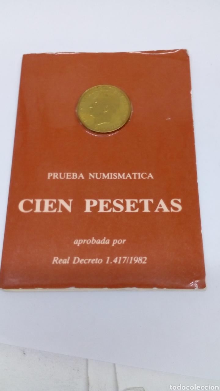 MONEDA DE CIEN PESETAS 1982 EN BLINDÉ (Numismatik - Numismatisches Material)