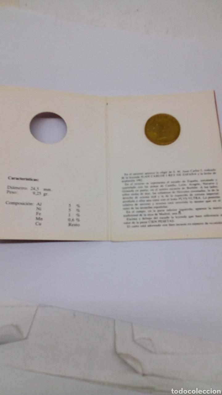 Numismatisches Material: Moneda de cien pesetas 1982 en blindé - Foto 2 - 156864874