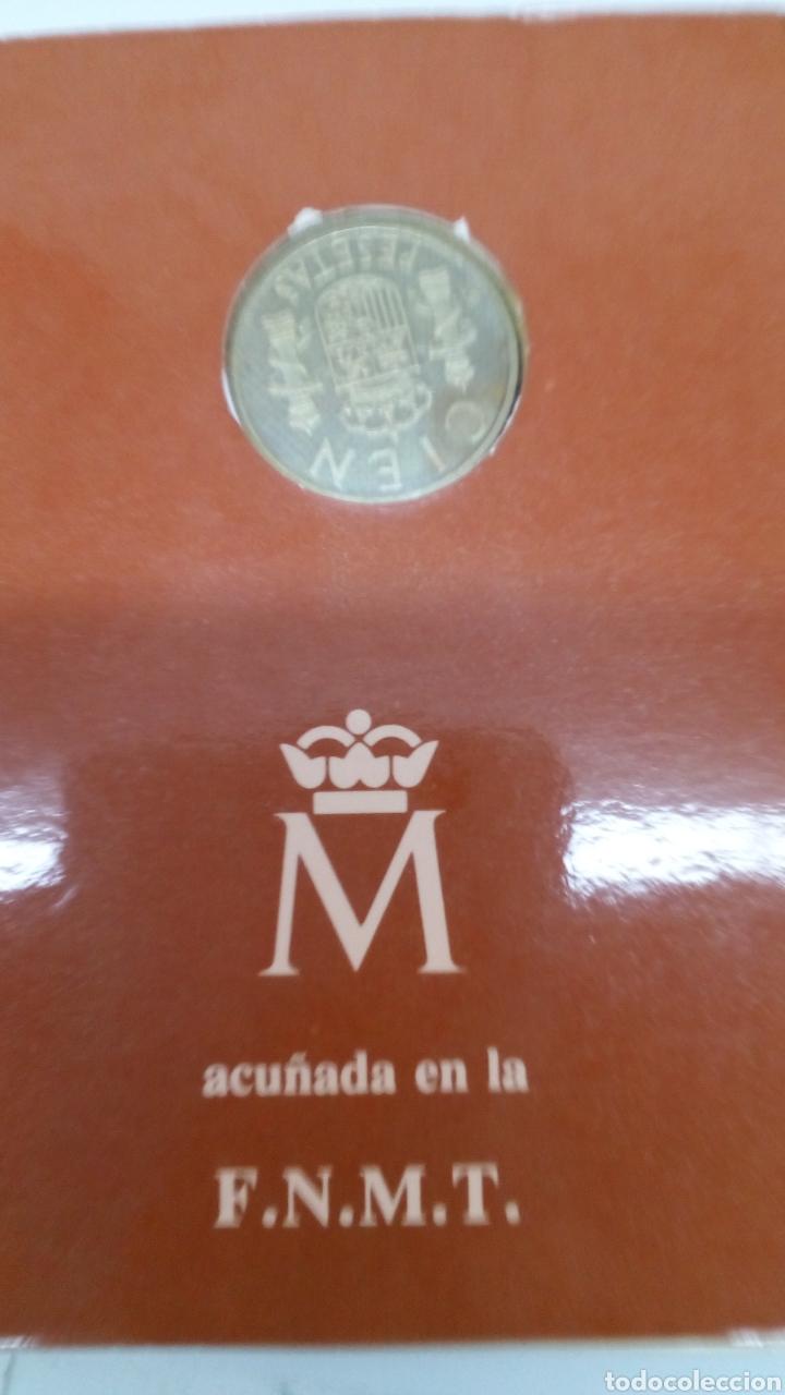 Numismatisches Material: Moneda de cien pesetas 1982 en blindé - Foto 3 - 156864874