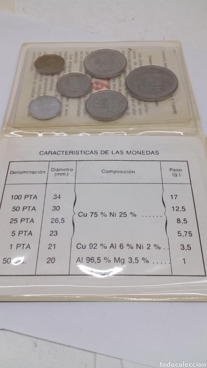 6MONEDAS DE100 50 25 5 1 0,50 PESEAS Y CENTIMOS EN SU ESTUCHE CON CARACTERÍSTICAS (Numismatik - Numismatisches Material)