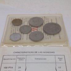 Material numismático - 6monedas de100 50 25 5 1 0,50 peseas y centimos en su estuche con Características - 162669124