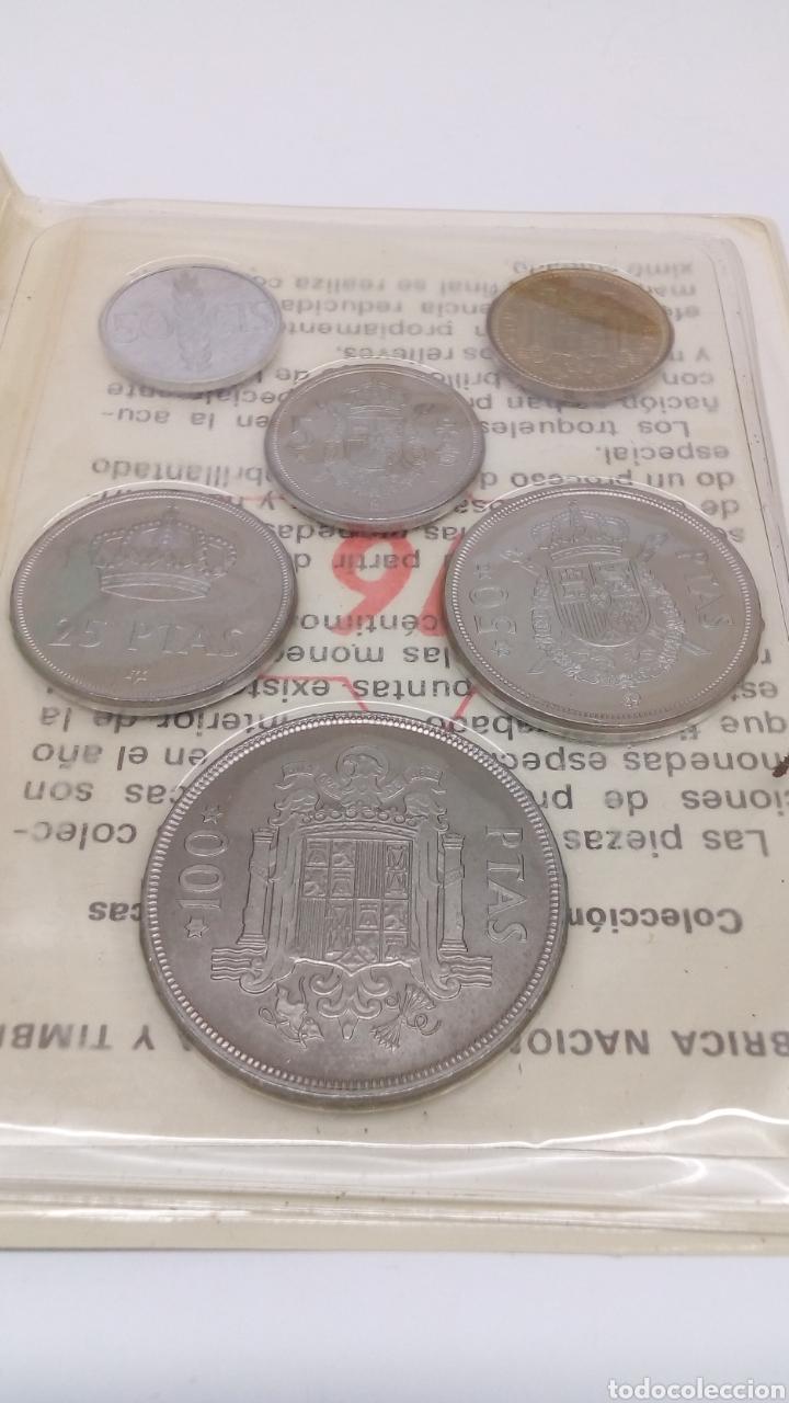 Numismatisches Material: 6monedas de100 50 25 5 1 0,50 peseas y centimos en su estuche con Características - Foto 3 - 156866034
