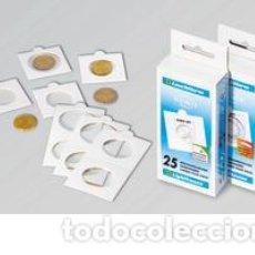 Material numismático: 400 CARTONES LEUCHTTURM PARA GRAPAR VARIOS TAMAÑOS. Lote 156962182