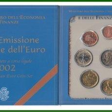 Material numismático: MONEDAS EUROS ITALIA CARTERA 2002. Lote 123592639