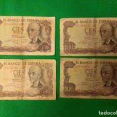 Material numismático: BILLETES CIEN PESETAS BANCO DE ESPAÑA 17 NOVIEMBRE 1970. Lote 160928798