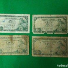 Material numismático: BILLETES 5 PESETAS BANCO DE ESPAÑA 22 JULIO 1954. Lote 160929482