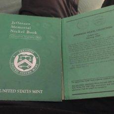 Material numismático: ÁLBUM CON MONEDAS DE JEFFERSON NICKEL USA DESDE 1962 A 1995. Lote 141583581