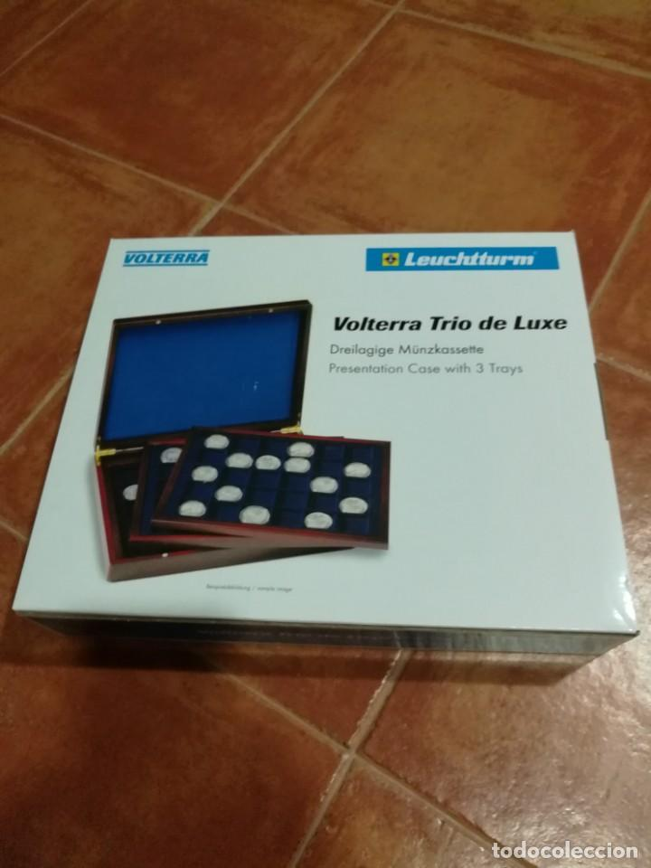 LEUCHTTURM ESTUCHE VOLTERRA DE LUXE PARA 105 MONEDAS DE 2€ (Numismática - Material Numismático)