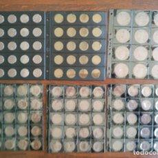 Material numismático: LOTE DE 6 HOJAS NEGRAS PARA COLECCIONAR MONEDAS MODELO ESTANDAR PARA ALBUM DE 4 ANILLAS. Lote 170209080