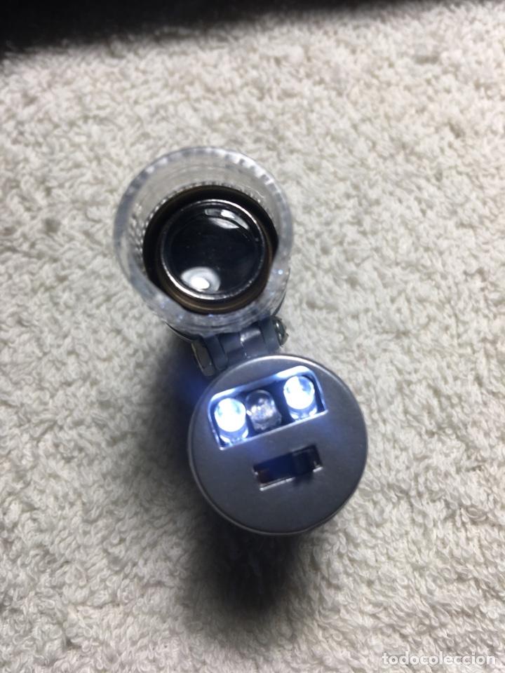 Material numismático: Lupa microscopio profesional x60 aumentos con luz led blanca y ultravioleta - Foto 6 - 170859022
