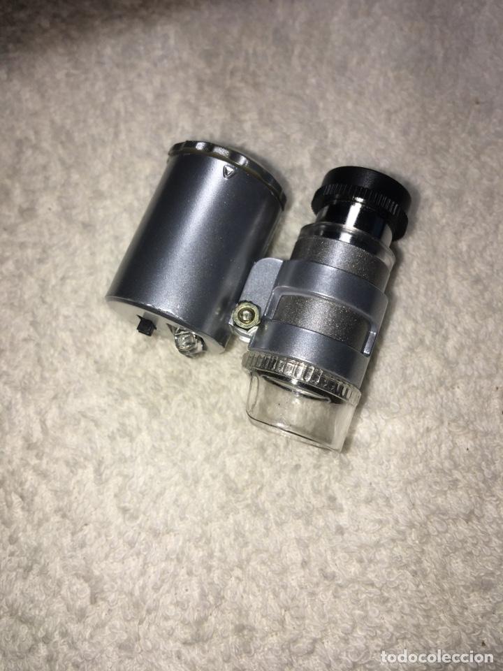Material numismático: Lupa microscopio profesional x60 aumentos con luz led blanca y ultravioleta - Foto 3 - 170859022