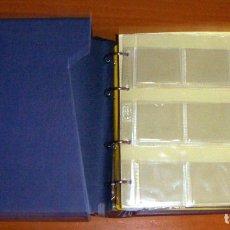 Material numismático: ALBUM PARA MONEDAS DE LA MARCA CREAFIL CON 10 HOJAS PARA CARTONES. Lote 172960055