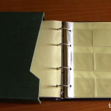 Material numismático: ALBUM PARA MONEDAS DE LA MARCA BBB CON 10 HOJAS PARA CARTONES. Lote 172960244