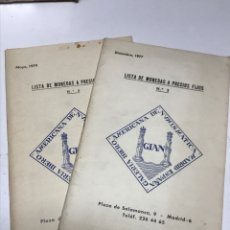 Material numismático: LISTA DE MONEDAS A PRECIOS FIJOS.. Lote 173296349