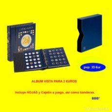 Material numismático: ALBUM LEUCHTTURM; MODELO VISTA, CON CAJETÍN PARA MONEDAS DE 2 EUROS.. Lote 222690506