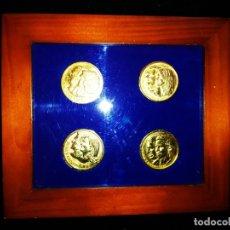 Material numismático: CUADRO MONEDAS ENMARCADAS BODAS REALES CASA REAL JUAN CARLOS SOFÍA LETICIA FELIPE ELENA . Lote 174996417