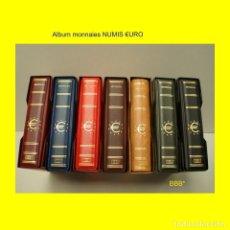 Material numismático: ALBUM BBB MODELO NUMIS 21X23CM.PARA MONEDAS €URO.EN POLIPIEL.CON CAJETÍN IDÉNTICO.. Lote 288534178