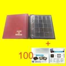 Material numismático: ALBUM MAMUT BBB* CON CAJETÍN. 4 ANILLAS 80/80/80. 45MM.GRAN CAPACIDAD + 5 HOJAS ESPECIALES QUADRUM. Lote 175104117
