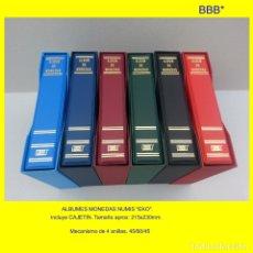Material numismático: ALBUM NUMIS MARCA BBB* DE 21X23CM.STANDARD MODELO EKO, CON CAJETÍN. 4 ANILLAS 45/65/45.. Lote 187198781
