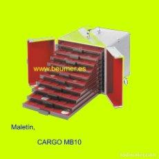 Material numismático: MALETÍN CARGO MB10. ALUMINIO, PARA 10 BANDEJAS (NO INCLUÍDAS). TAMAÑO: 265X225X320MM.. Lote 175278587