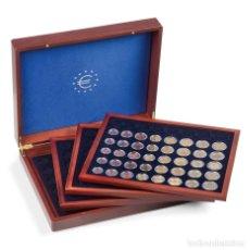 Material numismático: ESTUCHE PARA MONEDAS VOLTERRA TRIO. CON 4 BANDEJAS PARA 6 SERIES DE €UROMONEDAS CADA UNA.. Lote 175360565