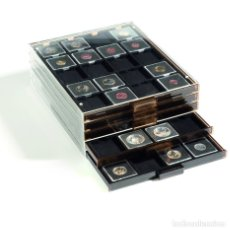 Material numismático: BANDEJA PARA CÁPSULAS DE MONEDAS QUADRUM. TAMAÑO: 236X303X20MM.INTERIOR NEGRO.. Lote 260702955