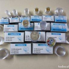 Material numismático: 10 CÁPSULAS PARA MONEDAS.REDONDAS.DIÁMETRO A ELEGIR. Lote 175363933