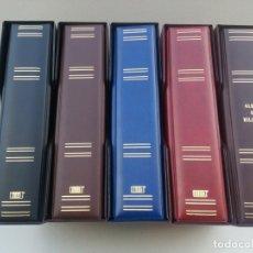 Material numismático: ALBUM MAMUT MARCA BBB*, GRAN CAPACIDAD. 4 ANILLAS 80/80/80.POLIPIEL. CON CAJETÍN IDÉNTICO.. Lote 295369998