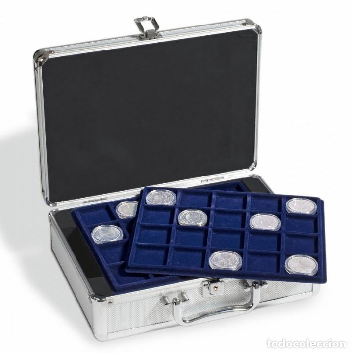 MALETIN PARA MONEDAS CARGO S6, CON 6 BANDEJAS PARA 120 MONEDAS DE HASTA 41MM. (Numismática - Material Numismático)