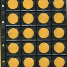 Material numismático: 10 HOJAS NUMISMÁTICAS BBB*-BEUMER*.19X21CM. 20 DIVISIONES.CON RANURAS.. Lote 187201390