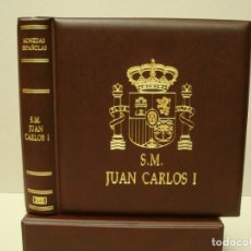 Material numismático: ALBUM BBB*,MODELO NUMIS DE 21X23CM. JUAN CARLOS I. + CAJETÍN IDÉNTICO. TODO EN POLIPIEL GRAN CALIDAD. Lote 295407618