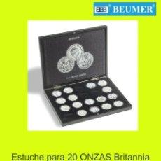 Material numismático: ESTUCHE VOLTERRA PARA 20 ONZAS BRITANNIA. + 20 CAPSULAS GRATIS !!!. Lote 187198722