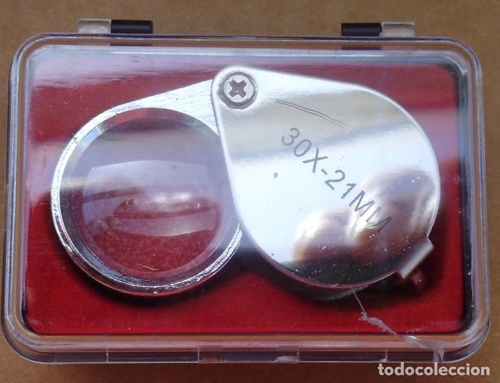 LUPA 30X-21MM QUE SI QUIERES LA PUEDES HACER LLAVERO MIRA LAS FOTOS (Numismática - Material Numismático)
