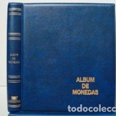 Material numismático: ALBUM BBB* BEUMER, PARA MONEDAS LUXE 27X33 CM. PARA HOJAS 20 CARTONES.4 ANILLAS. AZUL.. Lote 210970939