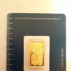 Material numismático: LINGOTE ORO PAMP SUIZA 5 GRAMOS ORO PURO 999,9. Lote 103879471