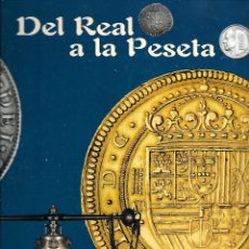 Material numismático: PAREJA DE LOS DOS ALBUMES DEL REAL A LA PESETA CON LA INFORMACION Y LAS FUNDAS DE LAS MONEDAS VACIOS. Lote 177517605