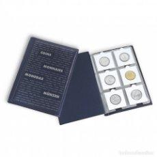 Material numismático: 2 ÁLBUMES DE BOLSILLO PARA MONEDAS CON 10 HOJAS, CADA UNA PARA 6 CARTONES DE MONEDAS, AZUL. Lote 177876743