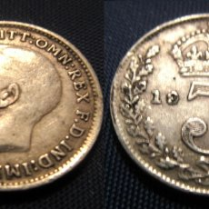 Material numismático: MONEDA INGLESA DE PLATA, 3 PENIQUES, 1917. Lote 178067515